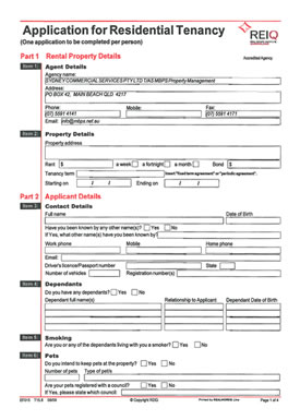 tenant application form with rental reference